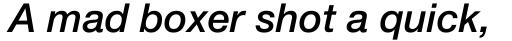 Neue Helvetica Pro 66 Medium Italic sample