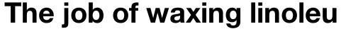 Neue Helvetica Pro 75 Bold sample