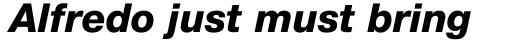 Neue Helvetica Pro 86 Heavy Italic sample