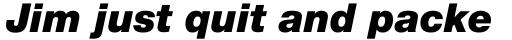 Neue Helvetica Pro 96 Black Italic sample
