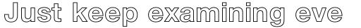 Neue Helvetica Pro 75 Bold Outline sample