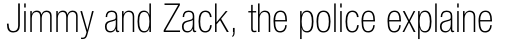 Neue Helvetica Pro 37 Condensed Thin sample