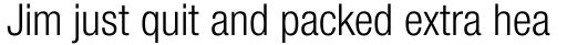 Neue Helvetica Pro 47 Condensed Light sample