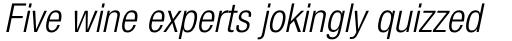 Neue Helvetica Pro 47 Condensed Light Oblique sample