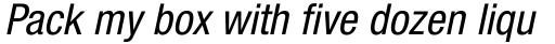 Neue Helvetica Pro 57 Condensed Oblique sample