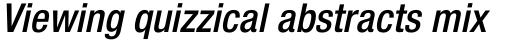 Neue Helvetica Pro 67 Condensed Medium Oblique sample