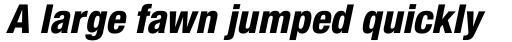Neue Helvetica Pro 87 Condensed Heavy Oblique sample