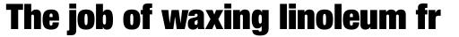 Neue Helvetica Pro 107 Condensed Extra Black sample
