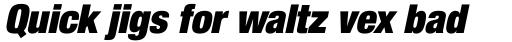 Neue Helvetica Pro 107 Condensed Extra Black Oblique sample