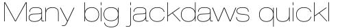 Neue Helvetica Pro 23 Extended Ultra Light sample