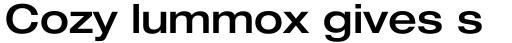 Neue Helvetica Pro 63 Extended Medium sample