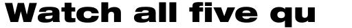Neue Helvetica Pro 93 Extended Black sample