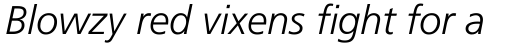 Frutiger Pro 46 Light Italic sample