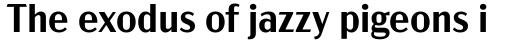 Acme Gothic Semibold sample