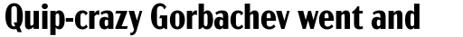 Acme Gothic Condensed Bold sample