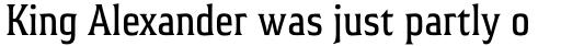 Hideout Pro Condensed Regular sample