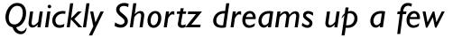 Gill Sans Italic OsF sample