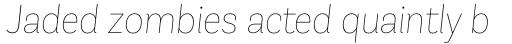 Andes Neue Alt 1 Thin Italic sample