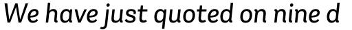 Andes Neue Alt 2 Book Italic sample