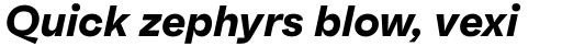 Faktum Bold Italic sample