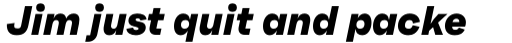 Faktum Extra Bold Italic sample