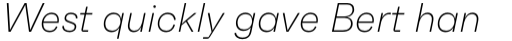 Faktum Extra Light Italic sample