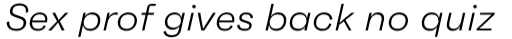 Faktum Light Italic sample