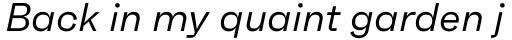 Faktum Regular Italic sample