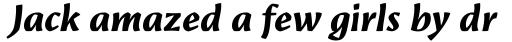 Amrys Extrabold Italic sample
