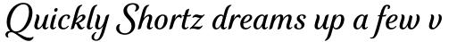 Elicit Script SemiBold sample