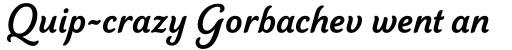 Elicit Script Bold Casual sample