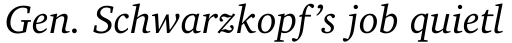 Charter BT Std Italic OSF sample