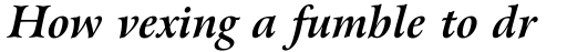 Arrus BT Std Bold Italic OSF sample