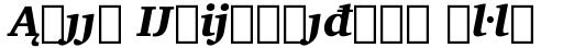 Charter BT Std Black Italic Extension sample