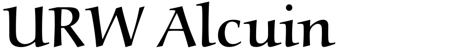 Click to view  URW Alcuin font, character set and sample text