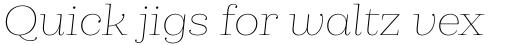 Cagliari Thin Italic sample