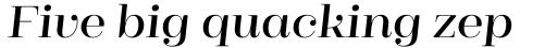 Cagliari Semi Bold Italic sample