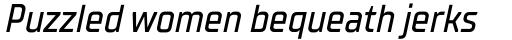 TT Supermolot Neue Condensed Medium Italic sample