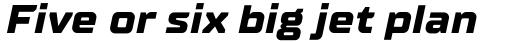 TT Supermolot Neue Expanded ExtraBold Italic sample