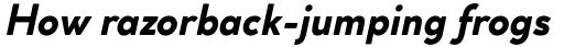 Cocogoose Classic Bold Italic sample