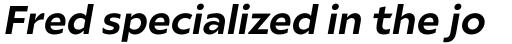 Ariana Pro Bold Italic sample