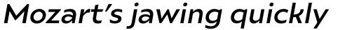Ariana Pro Medium Italic sample