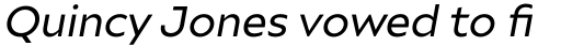 Ariana Pro Regular Italic sample