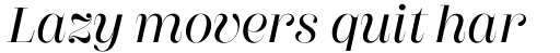 Couturier Poster Demi Italic sample