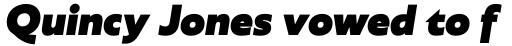 Agile Sans Heavy Italic sample