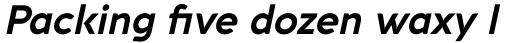 Aquawax Pro Bold Italic sample