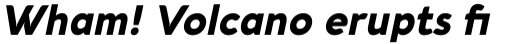 Aquawax Pro Ultra Bold Italic sample