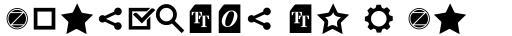Aquawax Pro Pictograms Demi Bold sample