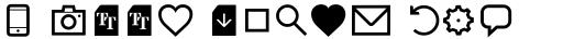 Aquawax Pro Pictograms Regular sample