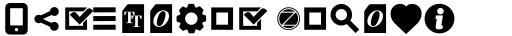 Aquawax Pro Pictograms Ultra Bold sample